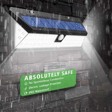 Bewegungssensor Solarlicht im Freien