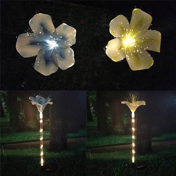 Faseroptik Blumendekoration Licht