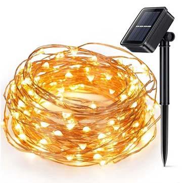 Solarenergie Kupferdraht Schnurlicht