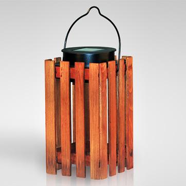 Solar-Holzlaterne Licht